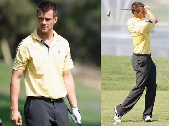 Photos of Josh Duhamel Participating in Celebrity Golf Tournament