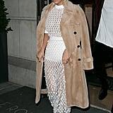 Kim Was White Hot in Sheer Balenciaga