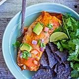 Vegetarian: Baked Enchilada-Style Veggie Burrito