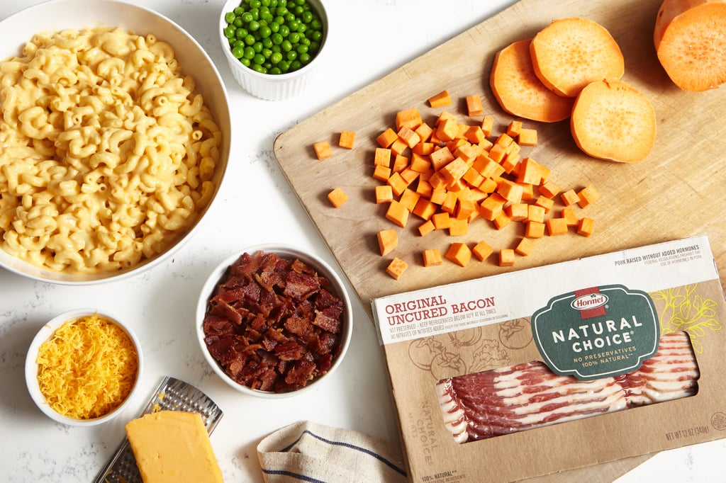 Sweet Potato Bacon Mac and Cheese
