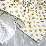 Gold Dots Receiving Blanket