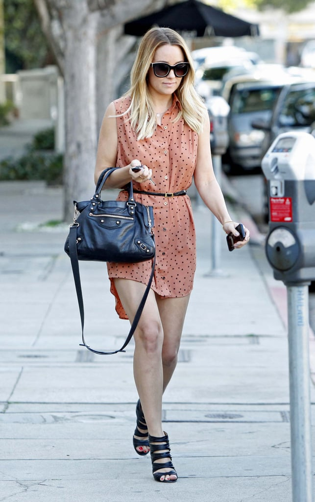 aed7f9e12d Lauren Conrad Leaving Kate Somerville Spa in LA | POPSUGAR Celebrity ...