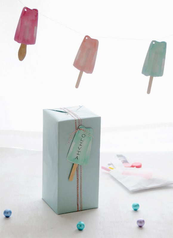 Popsicle Tag and Garland Printables