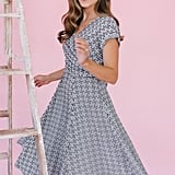Gal Meets Glam Collection Carson Variegated Gingham Bow-Back Dress