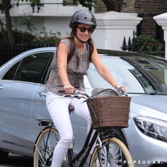 Pippa Middleton's Bike Riding Outfit July 2016
