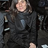 Vogue Paris's Emmanuelle Alt proved black-on-black is anything but boring, while sitting front row at Lanvin.