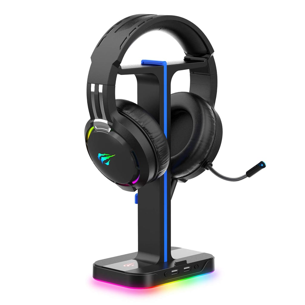 Gaming Headphone Stand & Wired Gaming Headset