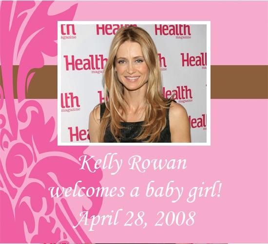 Kelly Rowan Has a Baby