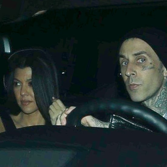 Kourtney Kardashian and Travis Barker Grab Dinner in LA