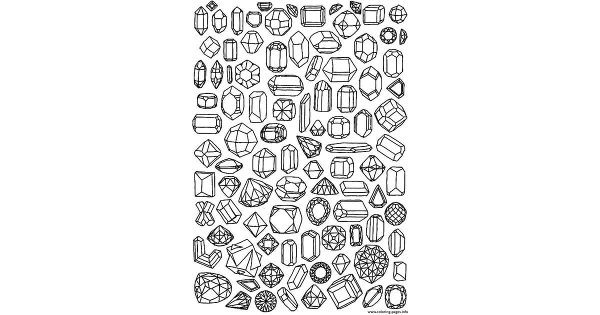 Get the coloring page Jewels