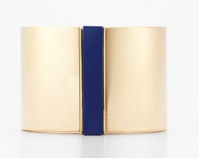 This super sleek cuff would offset a dressed-down jeans and tee look with just a touch of luxe.  Ann Taylor Deco Cuff ($68)