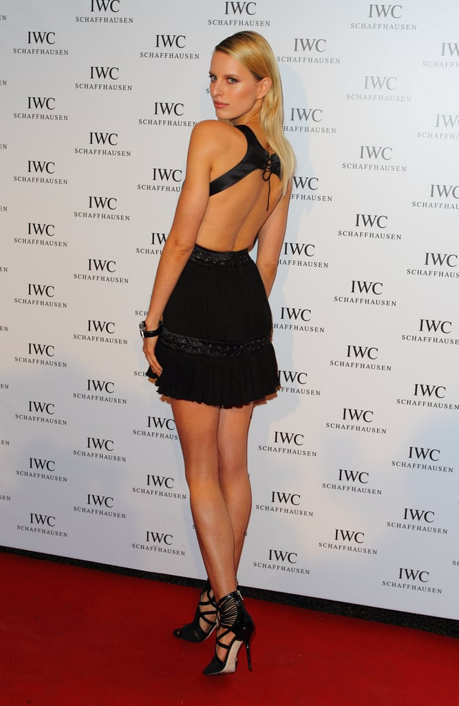 Karolina Kurkova showed off her sexy back at the IWC and Finch's Quarterly Review Filmmakers dinner.