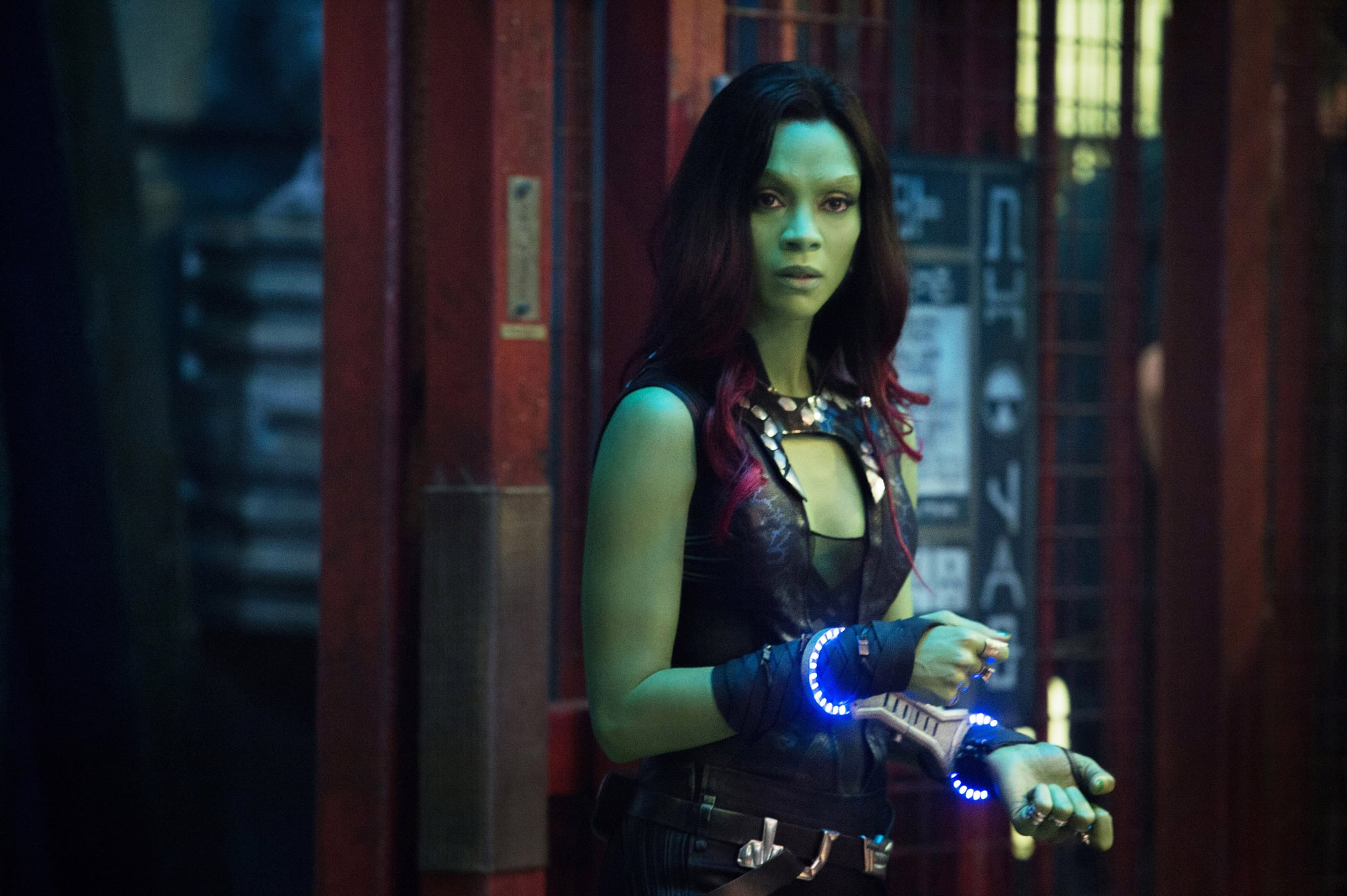 GUARDIANS OF THE GALAXY, Zoe Saldana, 2014. ph: Jay Maidment/Walt Disney Studios Motion Pictures/Courtesy Everett Collection