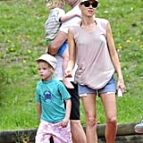 Naomi Watts, Liev, Sasha, and Samuel Schreiber passed the afternoon together in Sydney.