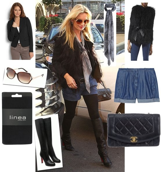 Photo of Kate Moss in London in Denim Shorts, Copy This Look