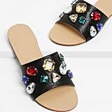 Shein Rhinestone Design Flat Sandals