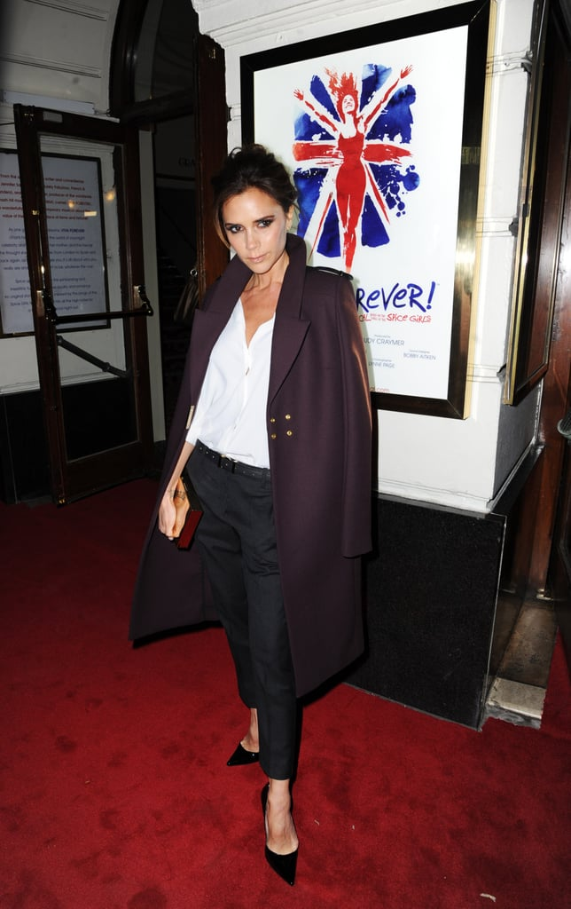 Victoria Bekcham stepped out for the Viva Forever! musical press event held at London's Piccadilly Theatre.