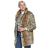 POPSUGAR Cozy Leopard Coat