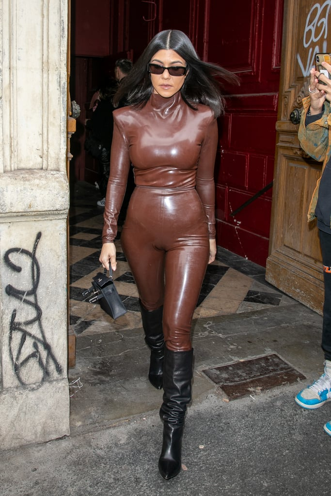 Kourtney Kardashian at the Sunday Service at Paris Fashion Week Fall 2020