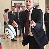 When William Tossed a Rugby Ball at the National Sport Center