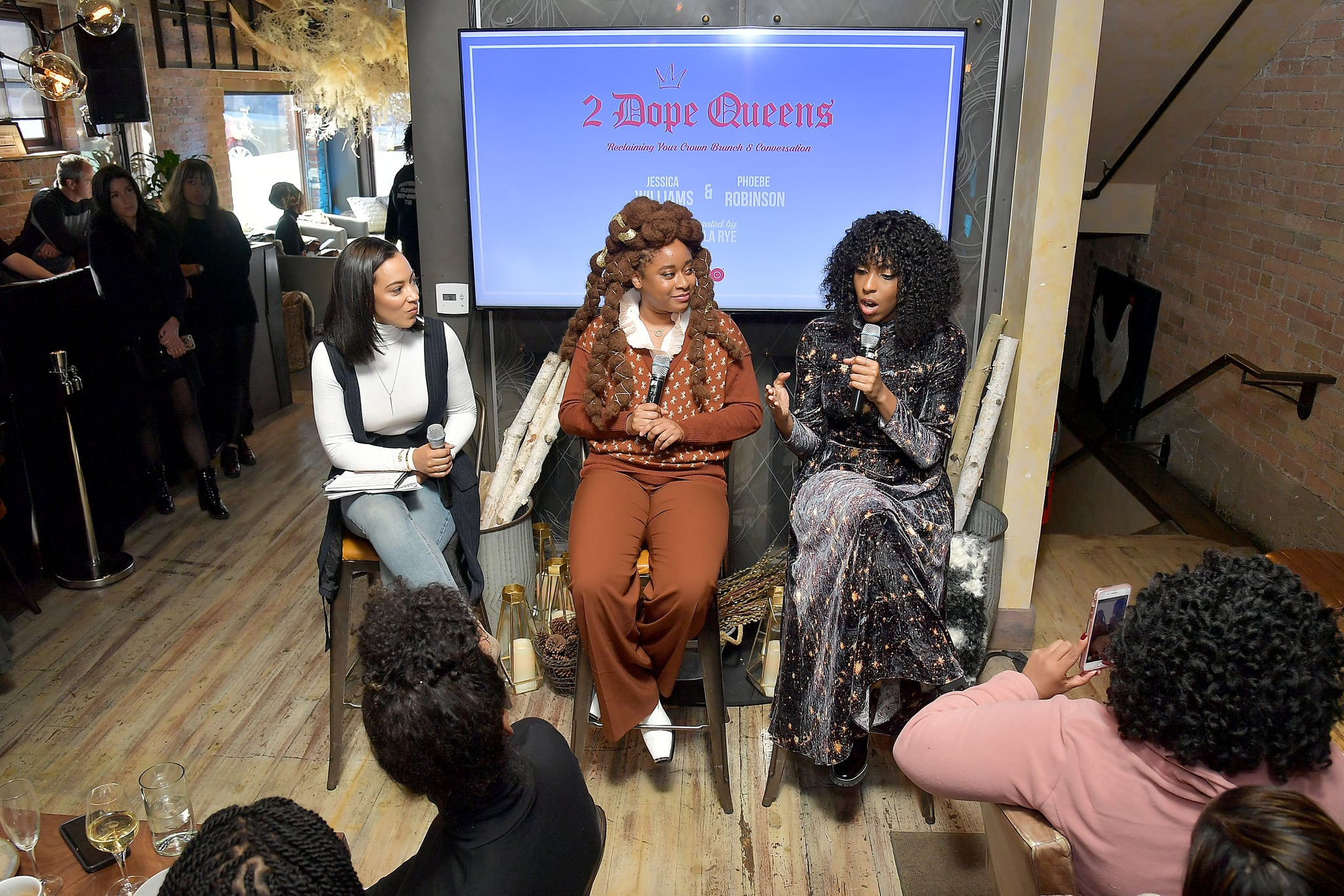 PARK CITY, UTAH - JANUARY 27: (L-R) Attorney and Principal and CEO of IMPACT Strategies Angela Rye, Jessica Williams, and Phoebe Robinson take part in the HBO