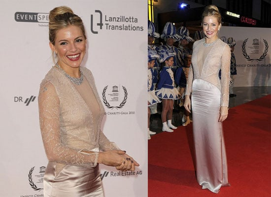 Sienna Miller at a Charity Gala in Germany