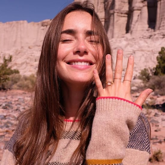 See Lily Collins's Stunning Engagement Ring | Photos