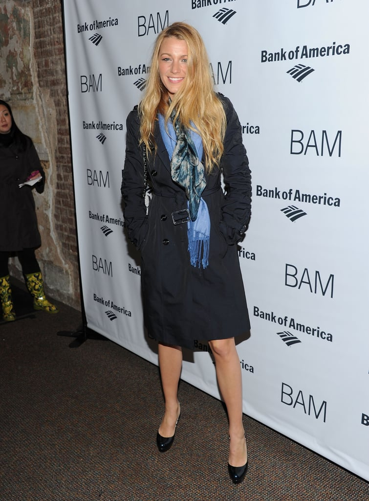 Blake Lively kept warm in her coat last night as she took a break from filming the Gossip Girl finale for a night at the BAM theatre gala. Blake's been hitting the headlines as she's starring in the new Chanel ad campaign — FabUK has all the amazing photos. She posed with her Green Lantern costar Peter Sarsgaard at the event, who attended with his wife Maggie Gyllenhaal. Claire Danes looked fab in an LBD as she attended with her hubby Hugh Dancy, while Hugh Jackman and Geoffrey Rush were also among the attendees.
