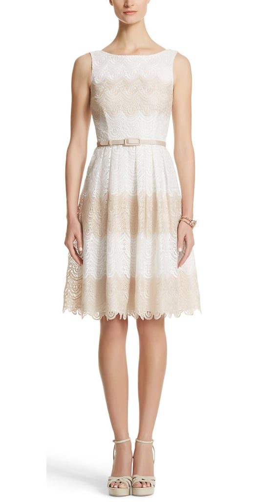 This White House Black Market striped lace dress ($220) is the perfect pick for Spring.