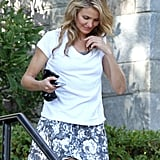Cameron Diaz headed to the set of Sex Tape just outside Boston on Monday.