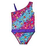 Summer Emoji One-Shoulder Swimsuit ($25)