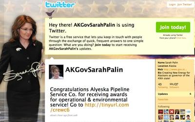 Sarah Palin Joins Twitter