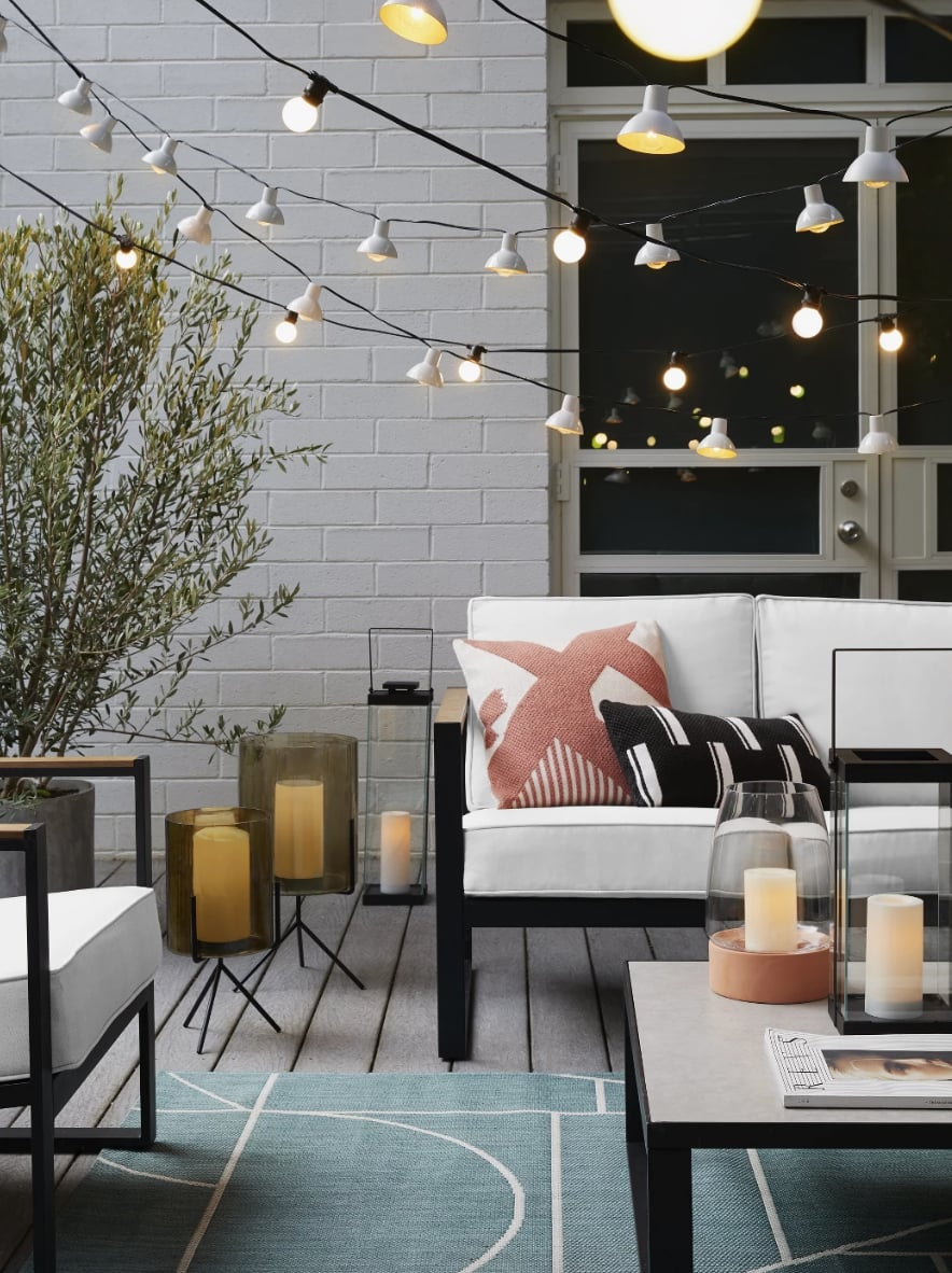 Get The Look Glass Outdoor Lantern Black Stand Target S New Home Collection For Spring Is Here Get A First Look Now Popsugar Home Photo 83