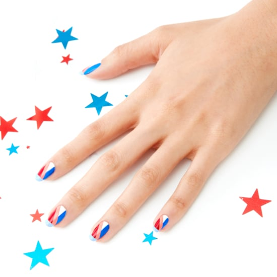 July 4 Stripes Nail Art