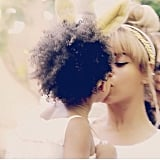 Beyoncé kissed her daughter, Blue Ivy. Source: Instagram user beyonce