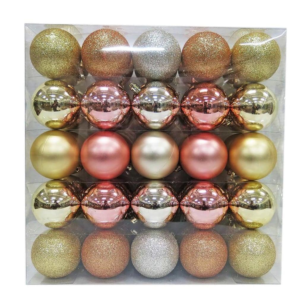 50ct Ornament Set 70mm Rosegold Champagne Best Christmas Ornaments