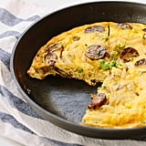 Spiralized Potato Breakfast Frittata With Sausage and Peas