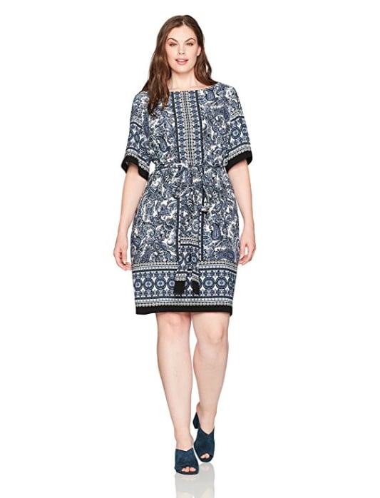 Gabby Skye Abstract Floral Printed Shift Dress