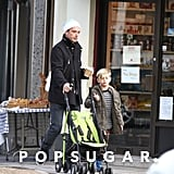 Gavin and Kingston Rossdale hung out in London.
