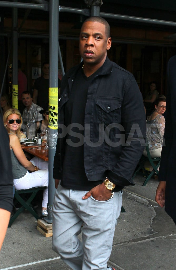 Jay-Z left Bar Pitti in NYC after lunch.