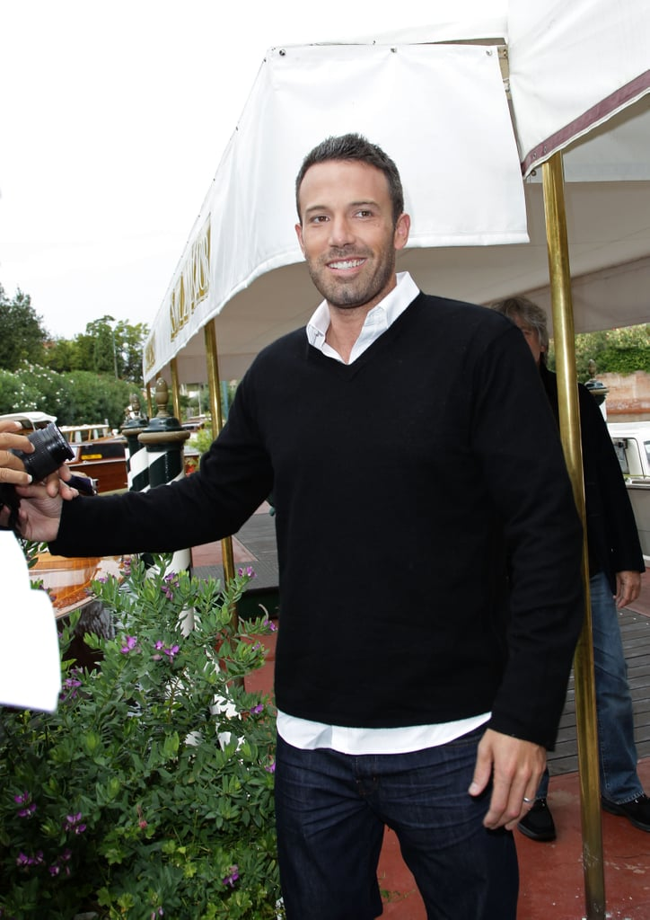Ben Affleck was all smiles at a Venice Film Festival photocall in September 2010.
