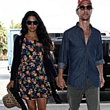Matthew McConaughey and Camila Alves got dropped off at LAX.