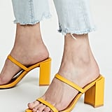 Jaggar Square Heel Double Strap Mules
