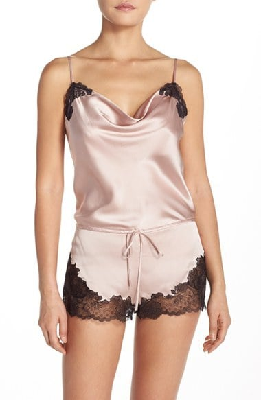 Josie Natori Lorena Silk Lounge Romper ($295)