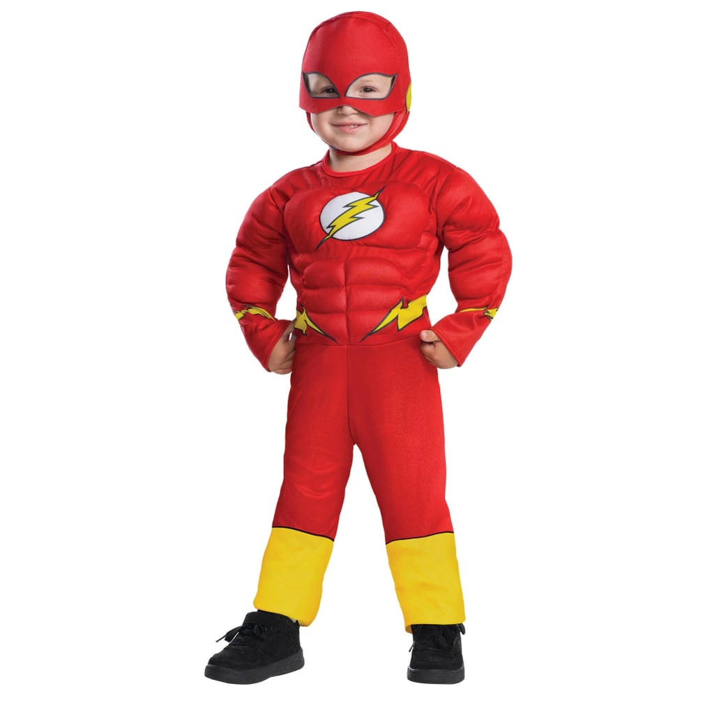 Toddler Boys' Justice League Flash Muscle Deluxe Halloween Costume
