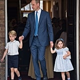 When He Color-Coordinated Outfits With Prince William and Princess Charlotte