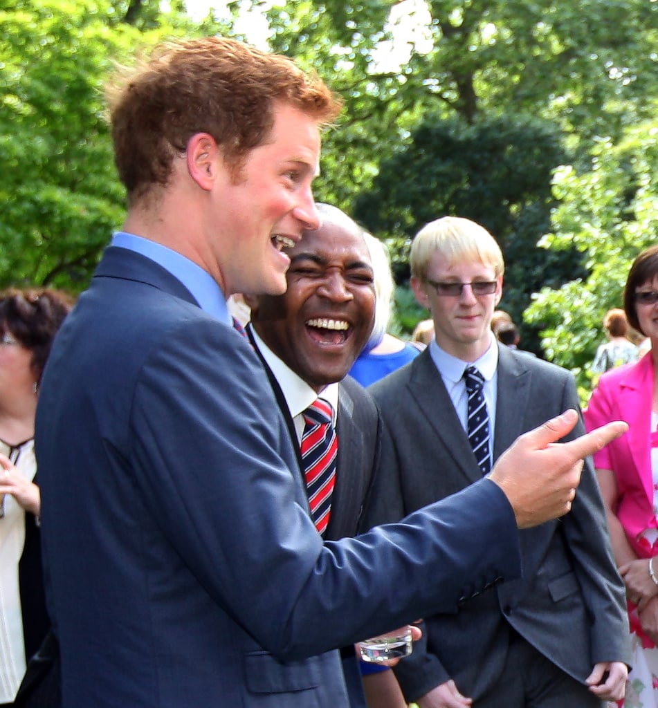 Prince Harry entertained the crowd.