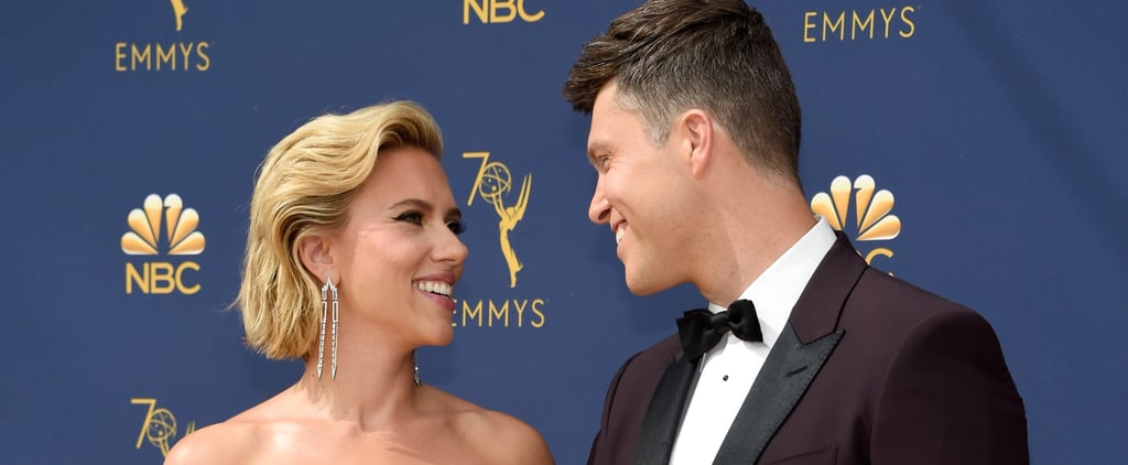 Scarlett Johansson and Colin Jost at the 2018 Emmys