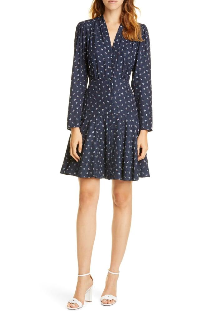 Tailored by Rebecca Taylor Clover Long Sleeve Silk Blend Dress