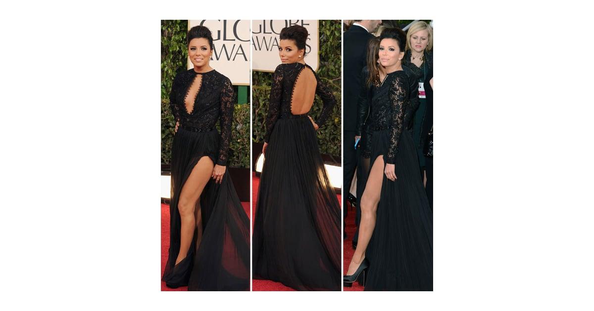 Eva Longoria Golden Globes Red Carpet Fashion 2013 Popsugar Fashion